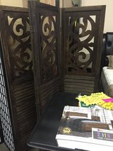 NEW! Designer carved wood 4-panel room divider!! in Vista, California