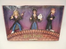 NEW!! Vintage Set of 3 Harry Potter Christmas Ornaments - Hermione, Harry, Ron by Kurt Adler 2001 in Glendale Heights, Illinois