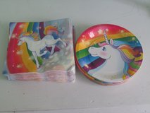 Unicorn Paper Plates & Napkins in Lockport, Illinois
