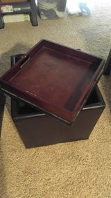 Pair of Storage Ottomans w/ tray top in Dyess AFB, Texas