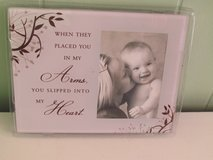 """Silver Frame With Saying W/Area for 3 1/2"""" x 5"""" Photo in Bolingbrook, Illinois"""