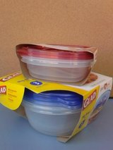 New plastic containers in Fort Riley, Kansas