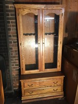 Solid oak gun case in Naperville, Illinois