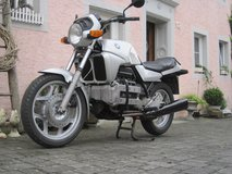 Old BMW K100 motorcycle in Spangdahlem, Germany
