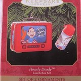 "HALLMARK 1999 ""Howdy Doody"" Lunch Box Set of 2 Ornaments - NIB! in Bartlett, Illinois"