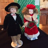 NIB!! The San Francisco Music Box Co Christmas Porcelain Musical Doll Set in Bartlett, Illinois