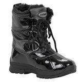 Khombu Lil Layla / Karley girls black snow boots size Y 3 in Naperville, Illinois