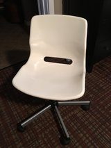 Ikea Rolling & Adjustable Height Chair - White/Off White in Camp Lejeune, North Carolina