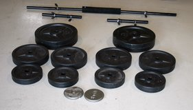 Barbell and dumbbell bars and weight plates in Naperville, Illinois