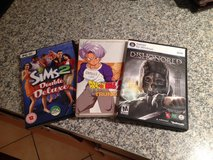 Sims 2 Double Deluxe, Dishonored computer games and Dragonball Z DVD in Ramstein, Germany