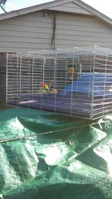 rabbit cage in Lawton, Oklahoma