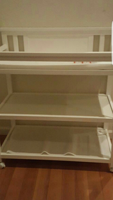 White 3 Level Changing Table in Vacaville, California