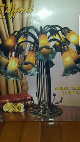 Amber/Green Lily Table  Lamp in Fairfield, California