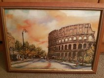 Rome Coliseum Picture Painting. Wood framed in Ramstein, Germany