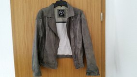 100 % REAL soft Leather Jacket grey Size L in Ramstein, Germany