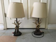 Pair Of Mossy Oak Antler Lamps in Macon, Georgia