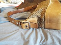 Authentic Coach Purse! Leather & Mini Sig Cloth in Camp Lejeune, North Carolina