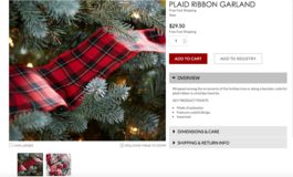 Plaid Ribbon Garland Pottery Barn in Ramstein, Germany