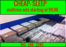 New mattress sets starting 99.00 in Cherry Point, North Carolina