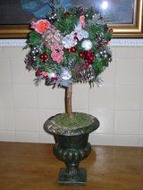 "22"" Christmas topiary in Glendale Heights, Illinois"