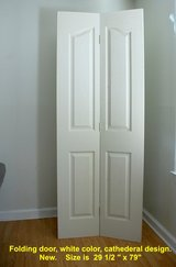 Byfold door for closet, pantry or else. White color. Inside door. in Camp Lejeune, North Carolina