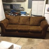 Brown Couch (like new) in Naperville, Illinois