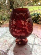Beautiful Red Bohemian glass goblet in Ramstein, Germany