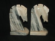 Onyx Horse Head Bookends in Oswego, Illinois