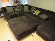 Huge Sectional Couch with Ottoman in Fort Bragg, North Carolina