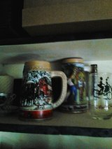 Assorted steins and glassware in Alamogordo, New Mexico