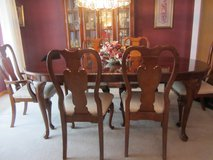 Dining room table, chairs, china cabinet in Morris, Illinois