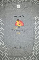 Custom Thanksgiving Baby Onesie - Style 2 in Conroe, Texas