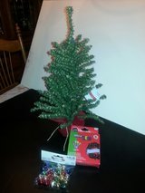 "NEW! 16"" Artificial Christmas tree kit w/ornaments and lights in Bartlett, Illinois"