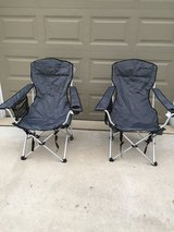 Eddie Bauer Foldable Lawn Chairs w/ foot rests in Algonquin, Illinois