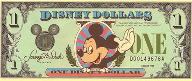 "Collectors Rare 1988 $1 ""D"" Mickey Mouse DISNEY Dollar- Uncirculated, MINT in Joliet, Illinois"