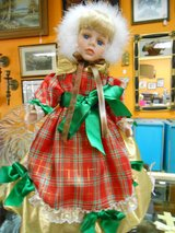 Doll in Christmas Dress in Cherry Point, North Carolina