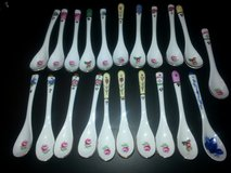 NEW!  21 Victorian Floral Ceramic Spoons in Bartlett, Illinois
