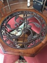 BEAUTIFUL DINING TABLE OAK/WROUGHT IRON in Schofield Barracks, Hawaii