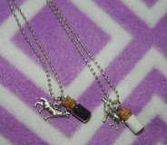 Yin and Yang wolf necklace set in Bellaire, Texas