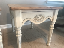2 Vintage refinished solid wood side tables. in Baytown, Texas
