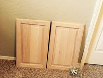 Solid oak cabinet doors with hardware in Lawton, Oklahoma