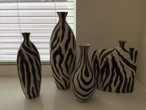 Zebra Print Vase Set in Schofield Barracks, Hawaii