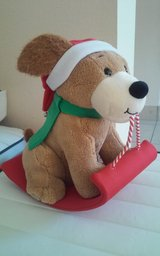 Musical Rocking Christmas Dog on Sled in Conroe, Texas