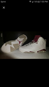 Jordan 6 maroon in Camp Pendleton, California