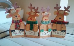 Reindeer Folding Merry Christmas Decor in Conroe, Texas