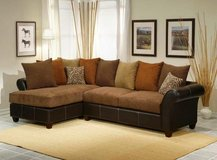 NEW USA QUALITY HIGH DENSITY CUSHIONED SOFA CHAISE SECTIONAL /NEW! in Vista, California