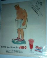 Original Vintage Jell-o Advertisement Page / Old Gold Cigarettes Ad On Reverse Circa 1950's in Fort Campbell, Kentucky