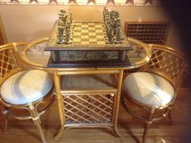Chess set and table with 2 chairs in Watertown, New York