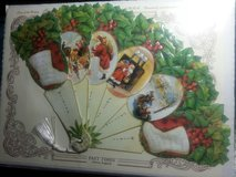 NEW! Vintage Inspired Christmas Paper Fan Greeting Card – St. Nicholas in Bartlett, Illinois