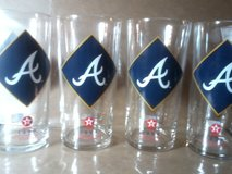 Vintage Glass set of 4 Atlanta Braves Glasses 1994 For Home Living- Man cave and Barware Set in Fort Campbell, Kentucky